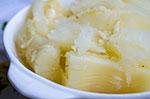cuba recipes .org - Yuca with Garlic Sauce
