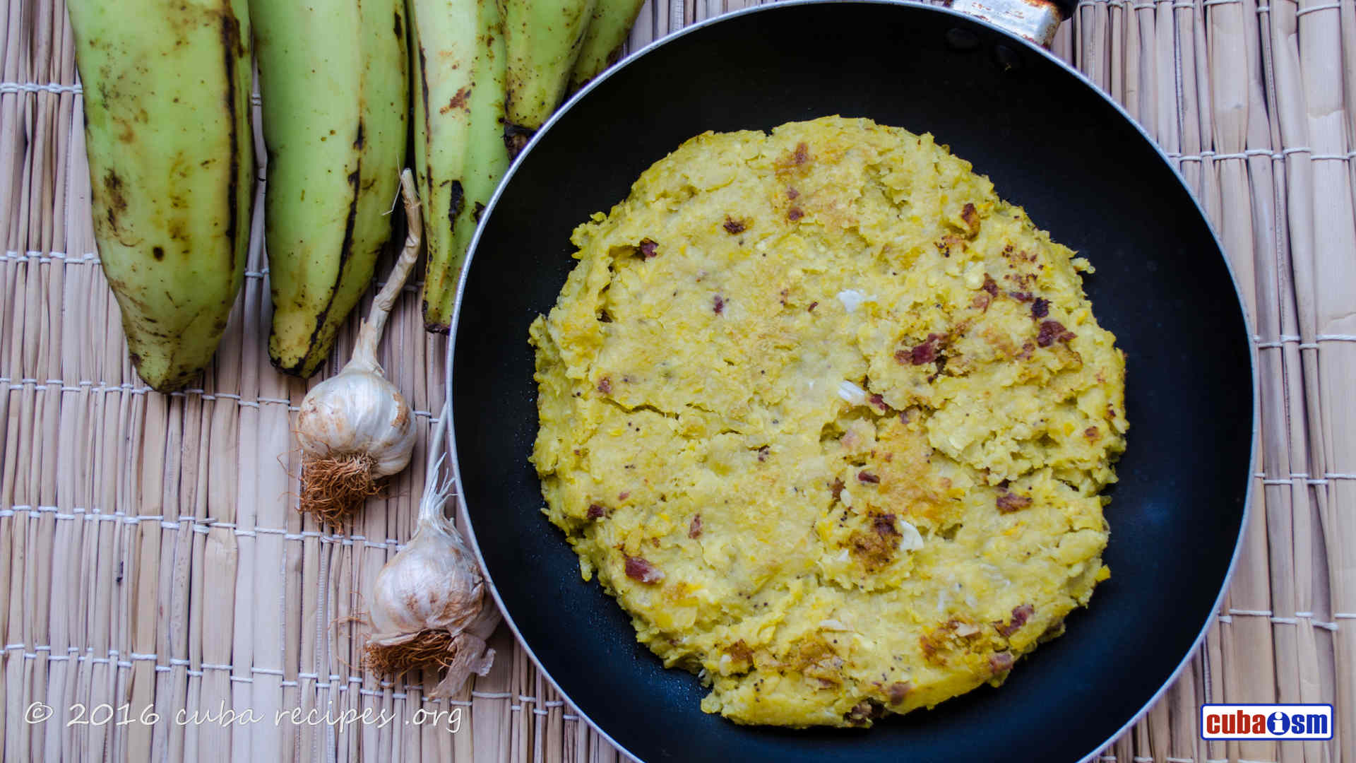 cuba recipes .org - Fufú de Plátano (Cuban Mashed Plantain)